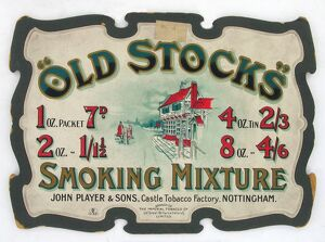 Old Stocks tobacco, 1904