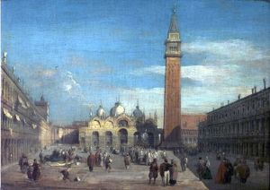 The Piazza, San Marco, Venice, Italy (View of the Piazza of San Marco (...))
