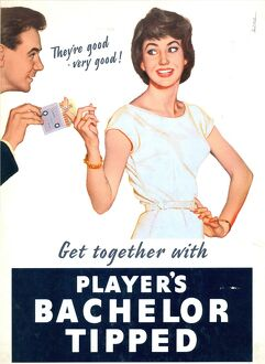 Get together with Player's Bachelor Tipped, 1958