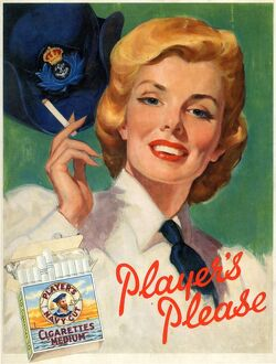 Player's Please: Female sailor, 1955