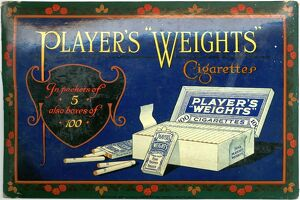 Player's Weights Cigarettes: Flowered border, 1901=1939