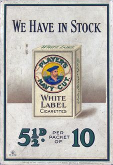 Player's White Label cigarettes