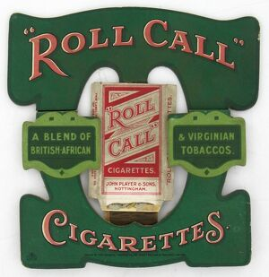 Roll Call Cigarettes, 1920