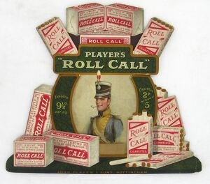 Roll Call tobacco and cigarettes, 1922
