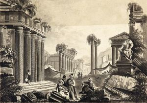 Ruins of Athens, by R.H., 9.1841