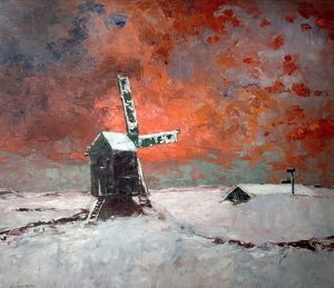 Snowbound Windmill - William Kiddier