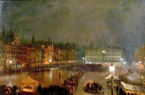 Torchlight Tattoo of Robin Hood Rifles, Nottingham Market Place - Claude Thomas Stanfield Moore