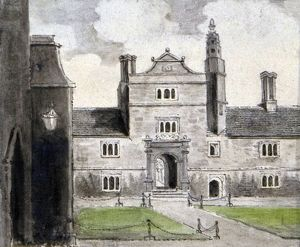View of Caius College, Cambridge, English School, 1700-1799