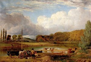 View At Wilford, Nottingham, by Benjamin Shipman, ca 1830