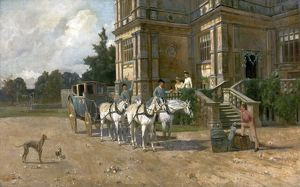 Front View of Wollaton Hall, Nottingham with Horse and Carriage