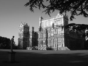 Wollaton Hall with statue